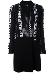 Versus Multi Print Wrap Dress Black
