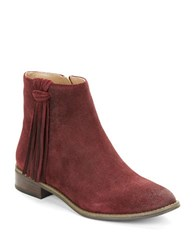 Karl Lagerfeld Sixte Fringe Accented Boots Merlot