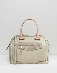 Aldo Tote Bag With Front Pocket Taupe Grey