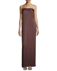 Escada Strapless Beaded Gown Henna