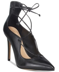Aldo Women's Thylia Lace Up Pumps Black Smooth