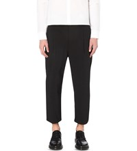 Helmut Lang Pleated Regular Fit Woven Trousers Black