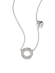 Marli Astrid Diamond And 18K White Gold M M Circle Necklace