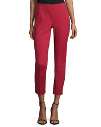 Lafayette 148 New York Stanton Straight Leg Ankle Pants Ruby Red Women's