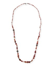 Long Beaded Single Strand Necklace Multi Alexis Bittar
