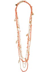 Rosantica La Sabbia Set Of Two Gold Tone And Beaded Necklaces