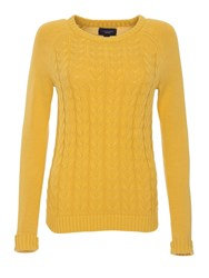 Lands' End Women S Drifter Mixed Stitch Crew Neck Yellow
