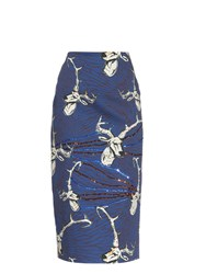 Stella Jean Bridgeport Stag Head Print Midi Skirt