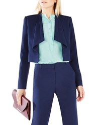 Bcbgmaxazria Franco Draped Collar Jacket Dark Navy