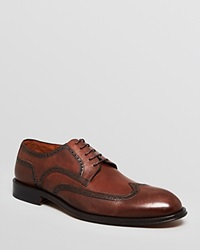 Gordon Rush Leather Wingtip Dress Shoes Powell Dark Brown