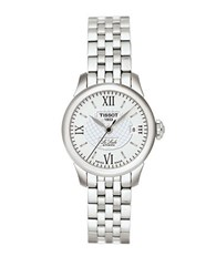 Tissot Ladies Le Locle Stainless Steel Two Tone Watch Silver