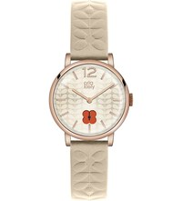 Orla Kiely Ok2010 Frankie Leather And Stainless Steel Watch Champagne