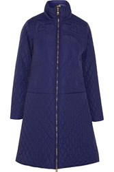 Love Moschino Embroidered Padded Shell Coat Blue