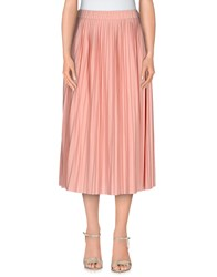 Le Mont St Michel Skirts 3 4 Length Skirts Women Pastel Pink
