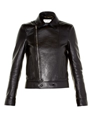 Saint Laurent Long Sleeved Leather Jacket