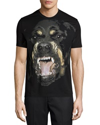 Givenchy Rottweiler Short Sleeve Graphic Tee Black