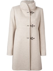 Fay Funnel Neck Coat Nude And Neutrals