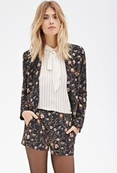 Forever 21 Floral And Bird Print Blazer