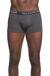 Men's Polo Ralph Lauren Cotton Trunks Black Charcoal Grey Heather