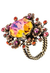 Konplott Eternal Glory Ring Pink Orange Antique Brass