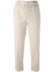 Prada Vintage Cropped Trousers Nude And Neutrals