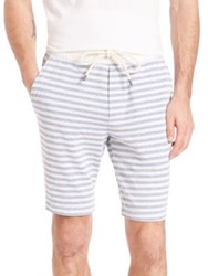 Splendid Mills Striped Drawstring Shorts Off White