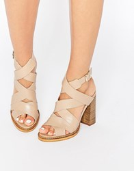 New Look Premium Real Leather Open Toe Sandal Off White