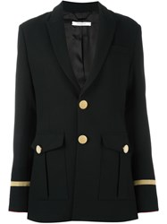 Givenchy Button Front Longline Blazer Black