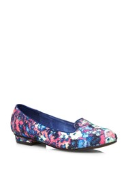 Evans Extra Wide Fit Blurred Print Slipper Pumps Multi Coloured
