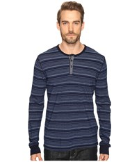 Lucky Brand Lived In Henley Indigo Men's Clothing Blue