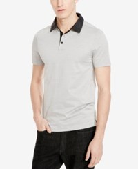 Kenneth Cole New York Men's Diamond Jacquard Polo Black