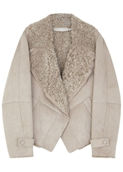Donna Karan New York Sand Shearling Jacket