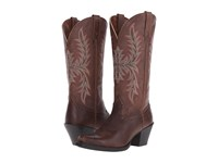 Ariat Round Up Maddox Wood Cowboy Boots Brown
