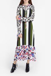 Msgm Women S Stripe And Floral Dress Boutique1 Multi