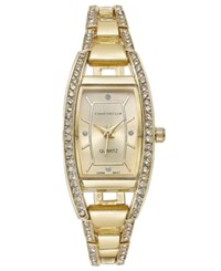 Charter Club Women's Gold Tone Square Link Bracelet Watch 20Mm 17284 Only At Macy's