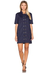 Finders Keepers Great Heights Mini Dress Navy