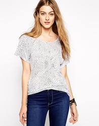 2Nd Day T Shirt In Croc Print White