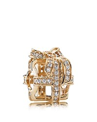 Pandora Design Pandora Charm 14K Gold And Cubic Zirconia All Wrapped Up Moments Collection