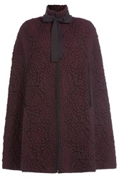 Alexander Mcqueen Wool Jacquard Cape Red