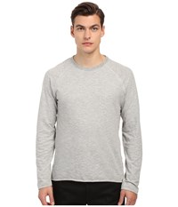 Billy Reid Indian Crew Neck Light Grey Men's T Shirt Gray