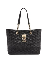 Betsey Johnson Be My Baby Quilted Tote Bag Black