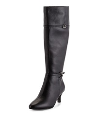 Cole Haan Elinor Buckle Leather Dress Boot Black
