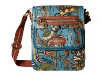 Sakroots Artist Circle Small Flap Messenger Lagoon Spirit Desert Cross Body Handbags Blue