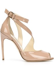 Brian Atwood Stiletto Sandals Nude And Neutrals