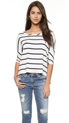 Chaser Striped Boxy Tee
