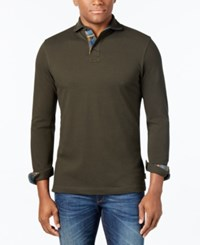 Barbour Men's Hartford Contrast Trim Long Sleeve Polo A Star Gift Macy's Exclusive Forest