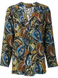 Lafayette 148 New York Paisley Print Blouse Multicolour