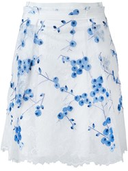 Carven Lace Overlay Skirt White