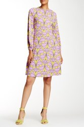 Orla Kiely Damask Flower Shift Dress Purple