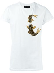 Christian Pellizzari Embellished Fish T Shirt White